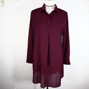 Tops - ❤5 for $25 NWT Burgundy Tunic Blouse M
